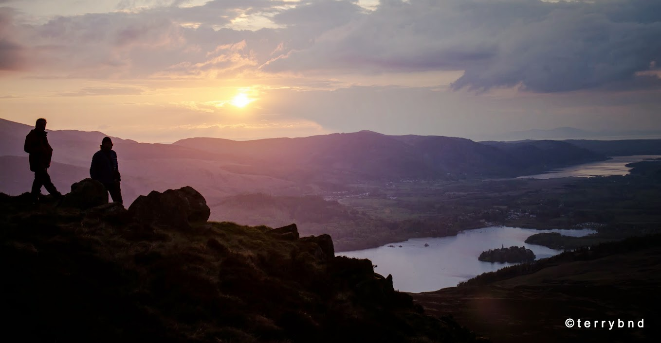 Bleaberry Fell sunset, Lake District