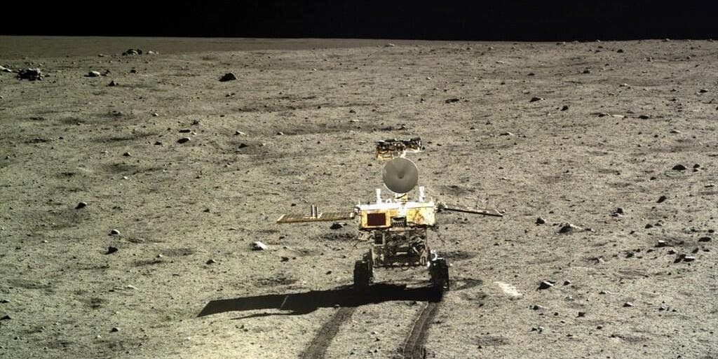 Jade Rabbit rover on the Moon. Credit: Xinhua