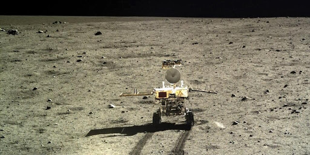 China's Yutu rover on the moon. Credit: CNSA