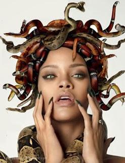 Rihanna Tampil Bogel Sebagai Dewi Medusa Untuk Majalah GQ