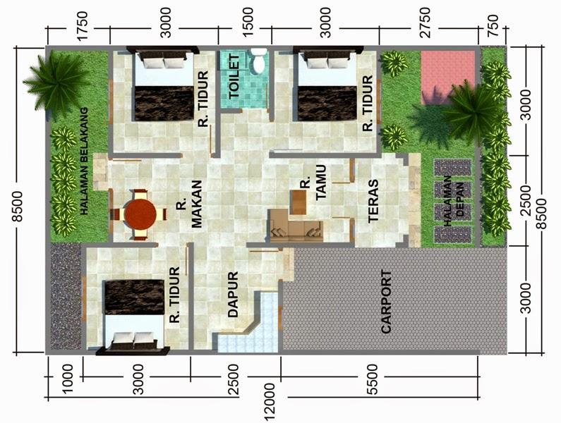 Rumah minimalis 3 kamar 1