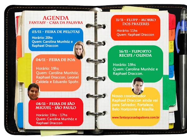 Agenda da Fantasy - Casa da Palavra em novembro