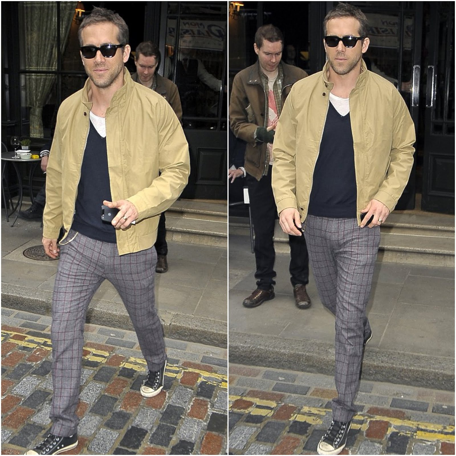00O00 Menswear Blog Ryan Reynolds in Gant Rugger - Out and about in London