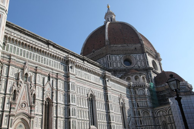 The signature dome of Duomo di Firenze, the Florence Cathedral in Florence, Italy