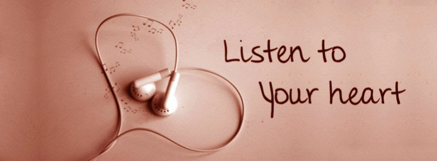 listen to your heart headphone facebook cover photo