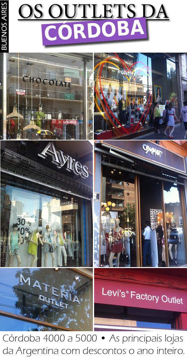Dica de compras em Buenos Aires, os outlets da Córdoba
