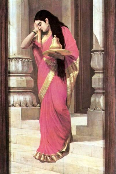 Raja Ravi Varma's Paintings: Women Pleasing