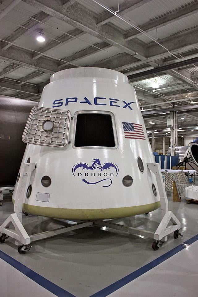Cápsula Dragon, desarrollada por Elon Musk