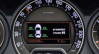 Sistema de subinflado de neumáticos en Citroën C5