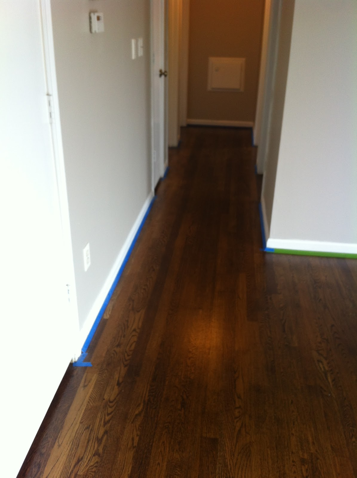 How to remove paint from hardwood floors -  Get Rid Of The Line From Where The Paint And Carpet Met And Wiped Down The Baseboards Before Painting Them A Crisp White In Semi Gloss So They Are Very