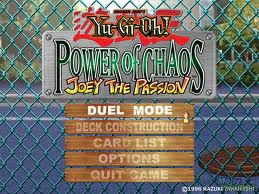 YU-GI-OH POWER OF CHAOS JOEY THE PASSION