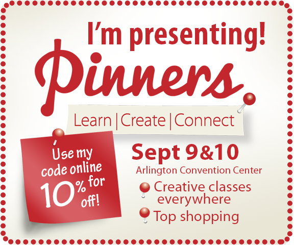 Look who is presenting at Pinners! Save 10% on your ticket by using the code ANITA at checkout.