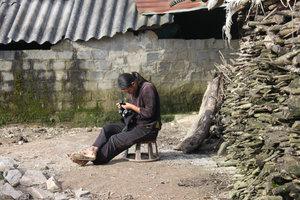 A Dzao ethnic girl in Tả Phìn village, Sìn Hồ