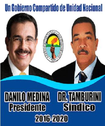 DR. HECTOR TAMBURINI-DIRECTOR JUNTA DISTRITAL VILLA CENTRAL PRD 2016-2020, APOYANDO A DANILO