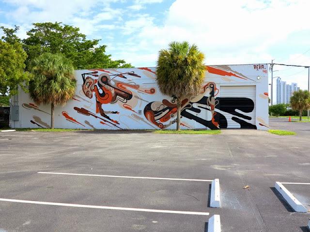 Street Art Mural By Australian Artist REKA in Miami, Florida for Art Basel 2013. 2