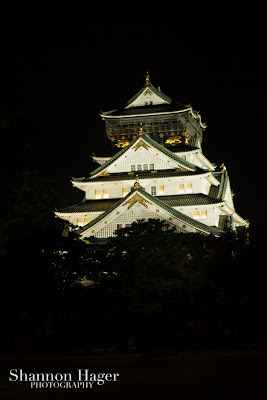 Shannon Hager Photography, Osaka Castle at Night