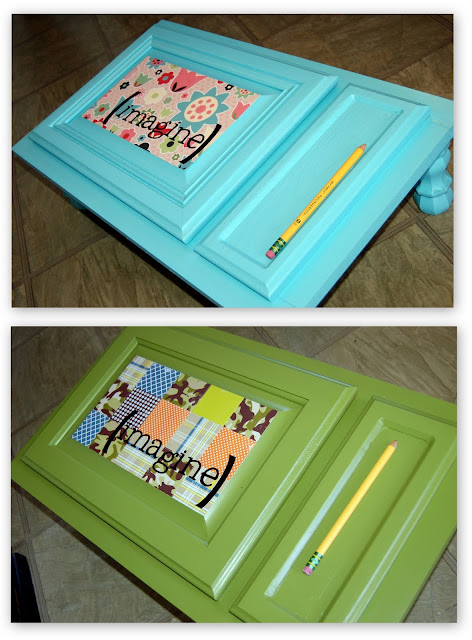 Cupboard Door into Art Desk by iCandy Handmade