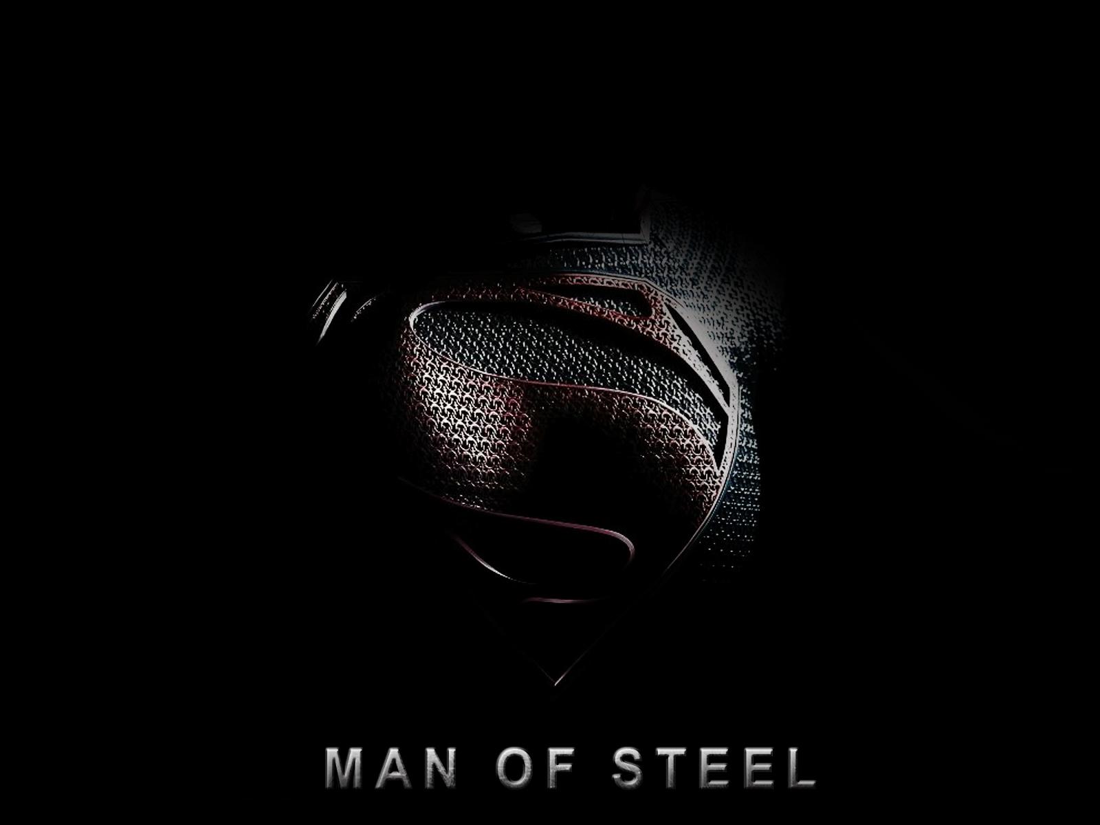 man of steel logo wallpaper hd