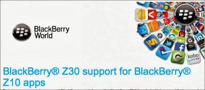 Una gran noticia para los desarrolladores, todas las aplicaciones del BlackBerry Z10 funcionarán con el nuevo BlackBerry Z30, BlackBerry automáticamente añadirá soporte para las aplicaciones a través del portal de proveedores. Las aplicaciones funcionan, pero con el tamaño de pantalla más grande se harán correcciones a la IU para que tengan el funcionamiento correcto. Para tu comodidad, hemos ampliado automáticamente el soporte de dispositivos para incluir el nuevo smartphone. Es posible que desees hacer hacer pruebas adicionales para asegurarte de que la interfaz de usuario se ha optimizado para el nuevo tamaño de pantalla y resolución. Esté es el e-mail