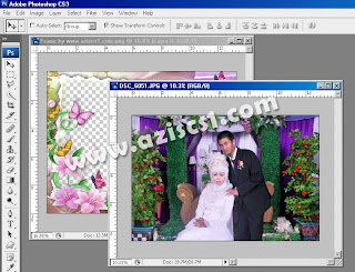 Tutorial memasang frame di photoshop