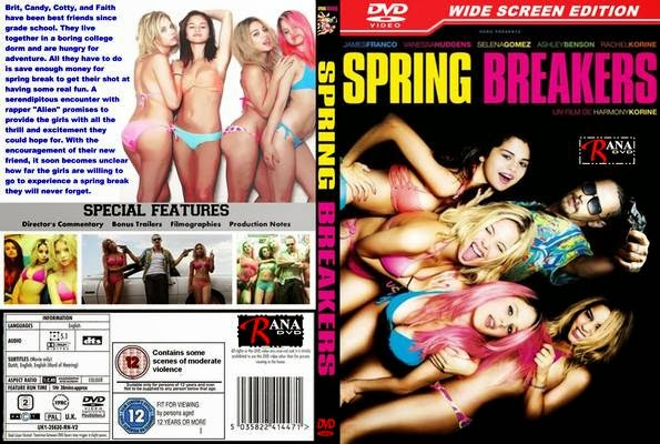 Spring Breakers Garotas Perigosas DVD-R Spring Breakers 2013 Wide Screen  Front Cover 74450