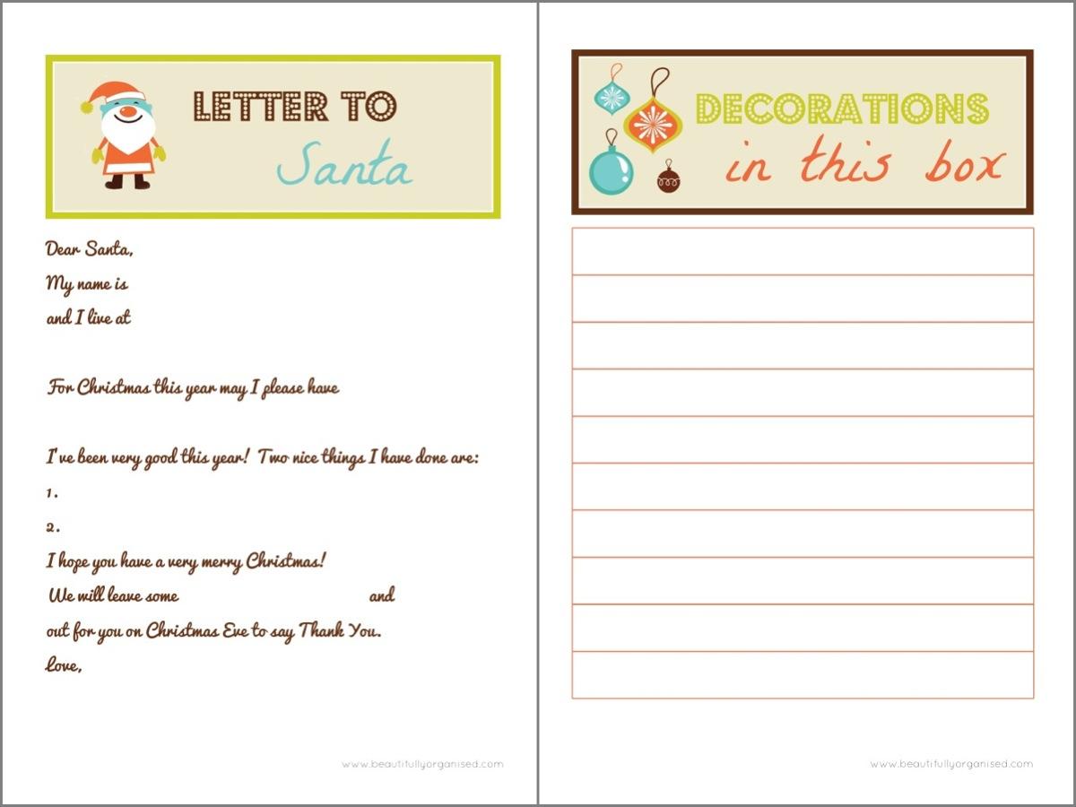 Printable secret santa list share the knownledge