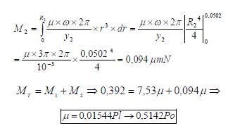 Ley de Newton de la viscosidad momento total superficie inferior ejercicio 4