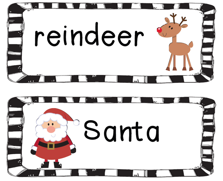 Christmas Vocabulary Cards are posted! |