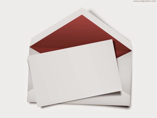 Envelope with Blank Note PSD