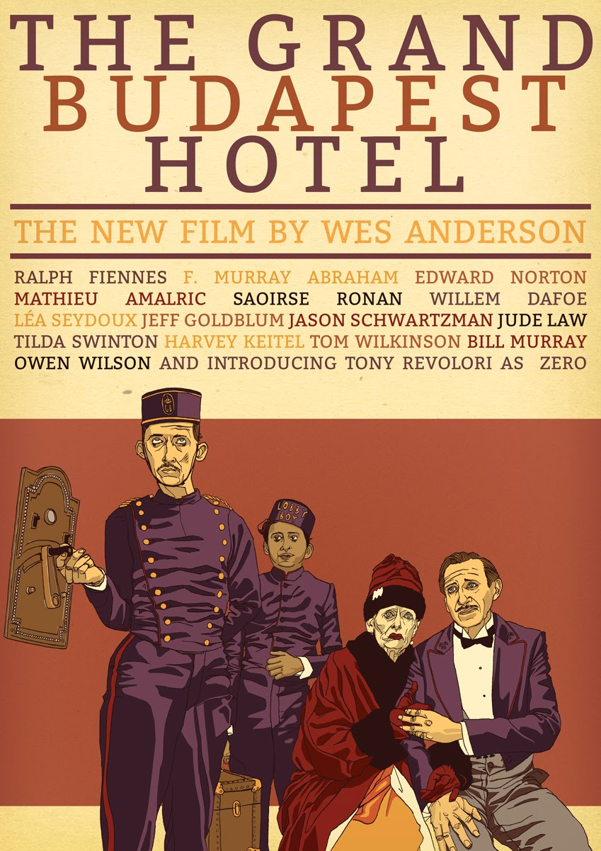the sunday dog parade the grand budapest hotel poster. Black Bedroom Furniture Sets. Home Design Ideas