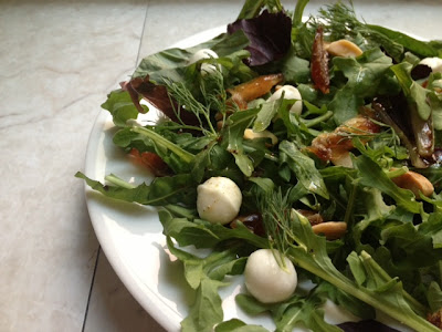 Arugula Salad With Dates, Cheese & Pomegranate Molasses Vinaigrette Recipe