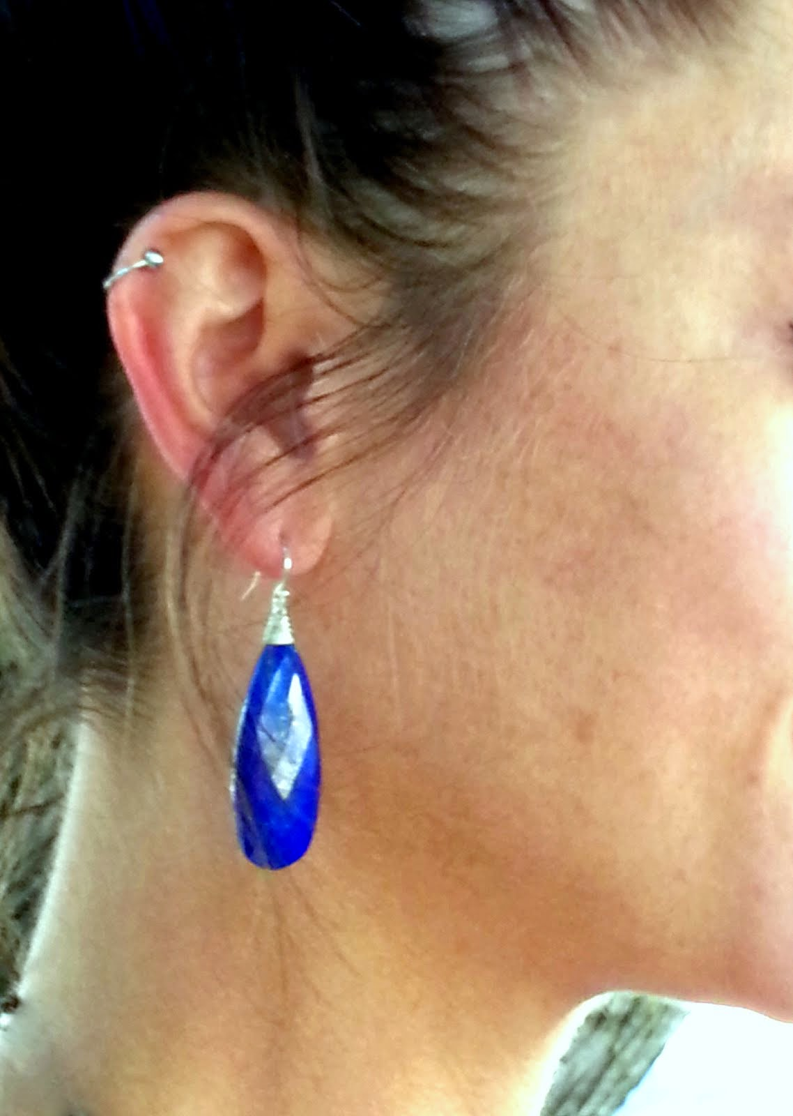 Eqyptian Blue Earrings