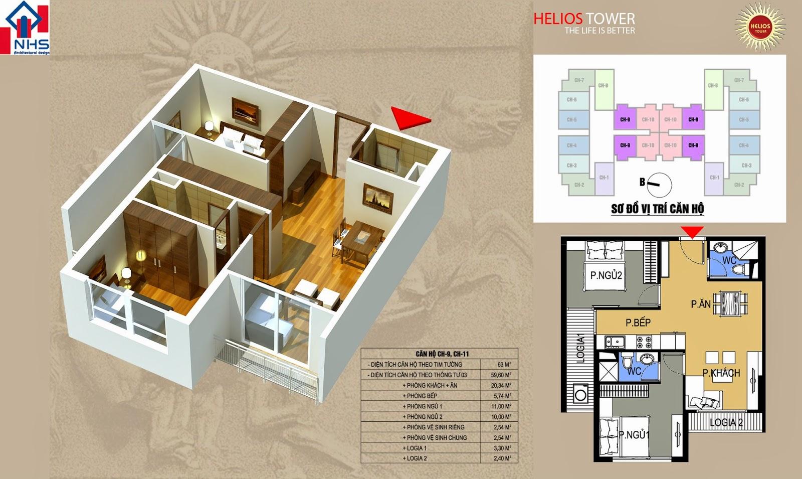 Căn 09 11 Helios Tower 75 Tam Trinh