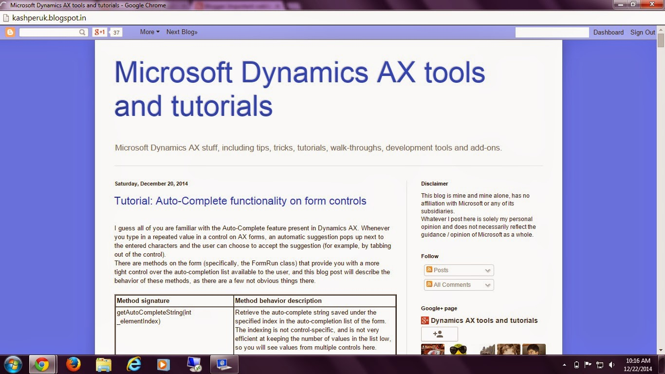 Dynamics axapta tools and tutorials