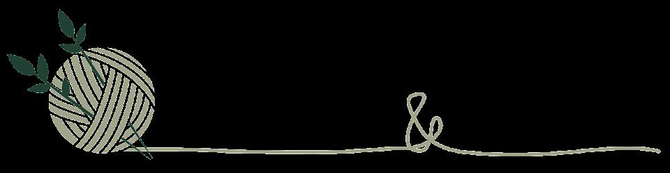 Pelotes de laines et feuilles de thé