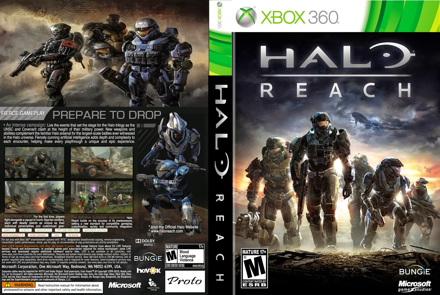 Capa Halo Reach XBOX 360
