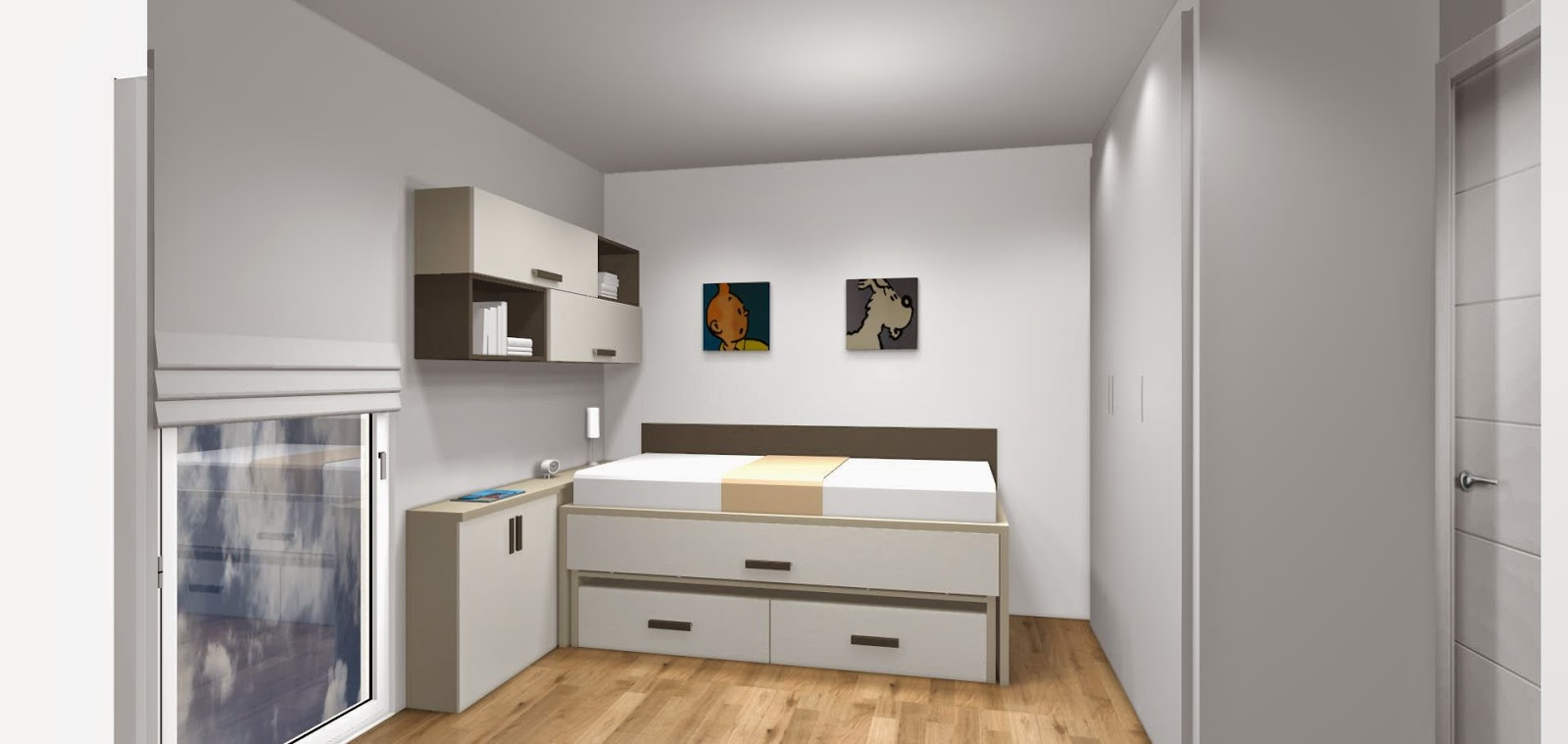 Dise o de cuartos o dormitorios juveniles for Habitaciones juveniles a medida