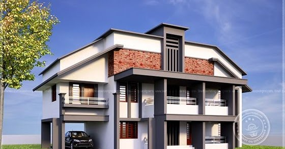 5 bedroom variety villa elevation home kerala plans for Variety home designs