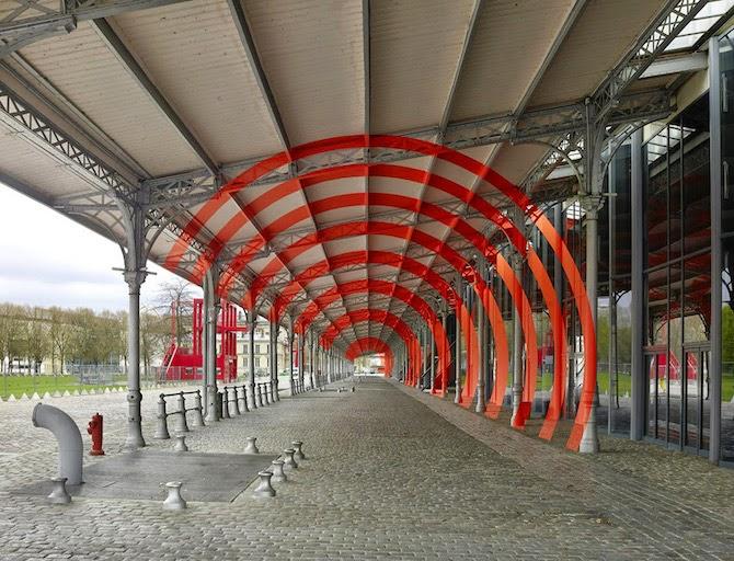 Geometric Paintings Meet Optical Illusion by Felice Varini