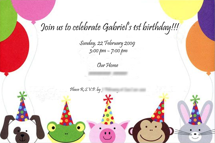 Gabriels 1st Birthday Party