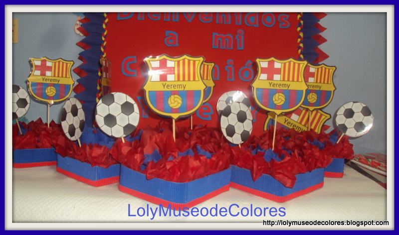 1000 images about fiesta futbol soccer party on pinterest - Decoracion infantil barcelona ...