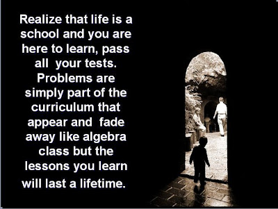 Life Is School Inspirational Quote