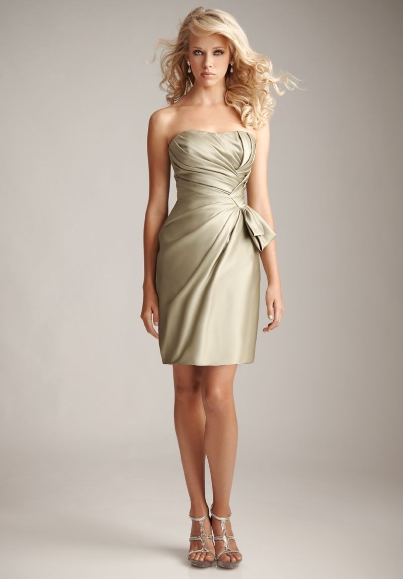 Whiteazalea bridesmaid dresses champagne colored for Wedding dresses in color