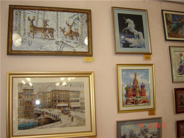 Фото с выставки вышивка