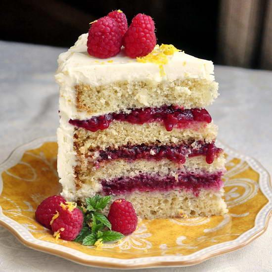 Raspberry Lemon Buttercream Cake - Naturipe Farms Berries ...