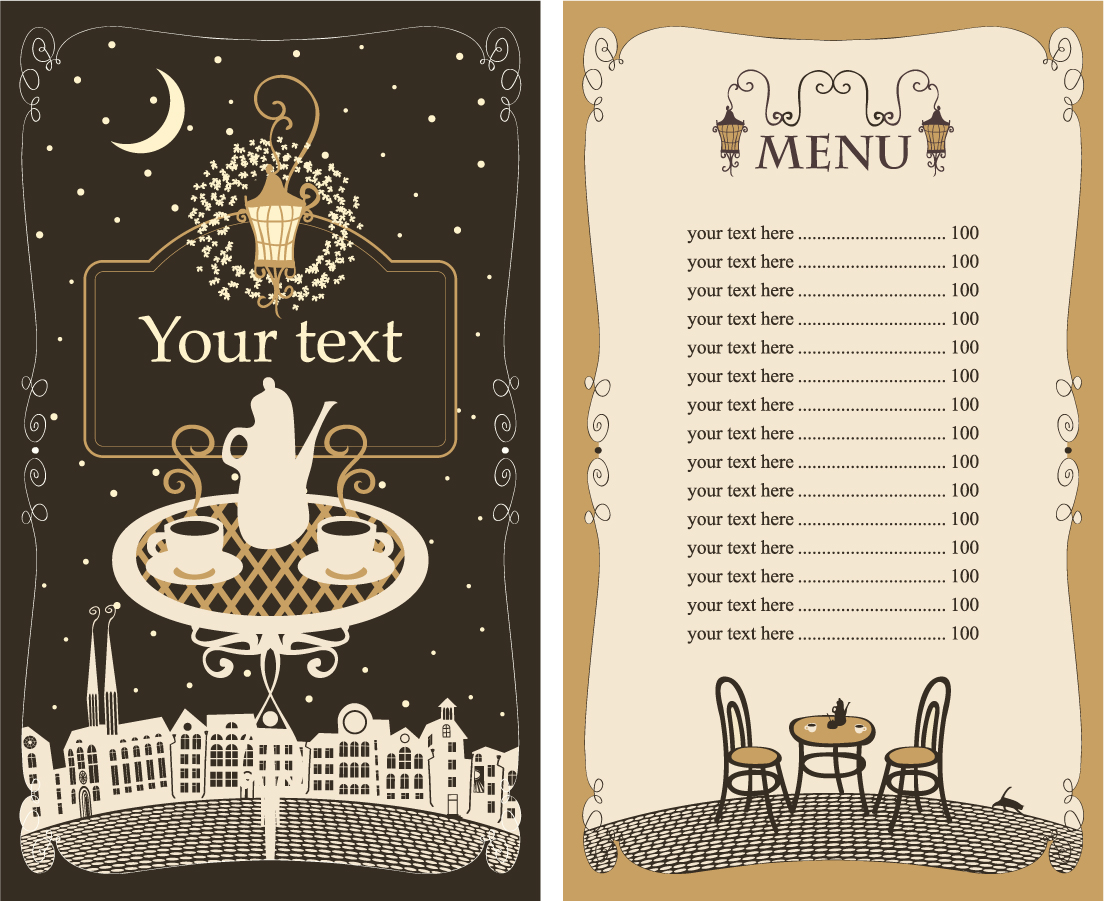 メニュー デザイン テンプレート menu cover design イラスト素材