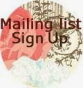 Newsletter/Mailing List Sign Up