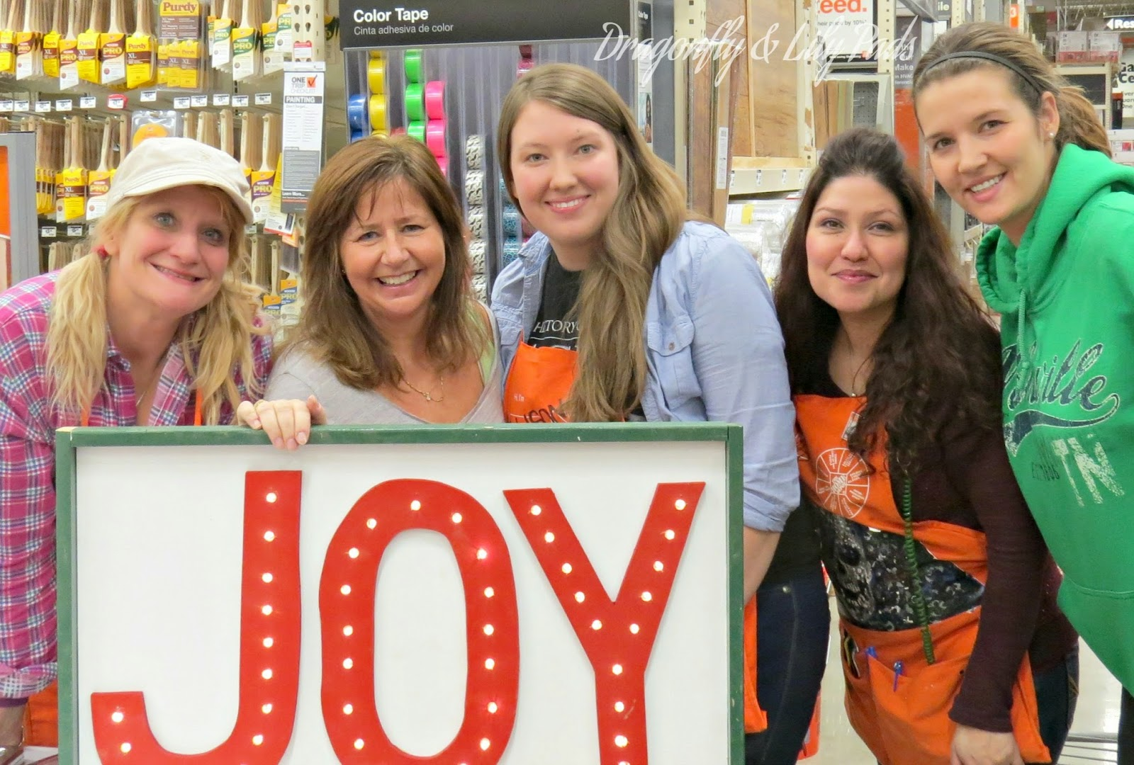 Her It Yourself Workshop at Home Depot in Countryside, IL Instructors and New Friends