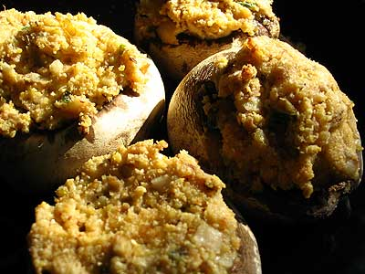 Stuffed Mushrooms with Goat Cheese