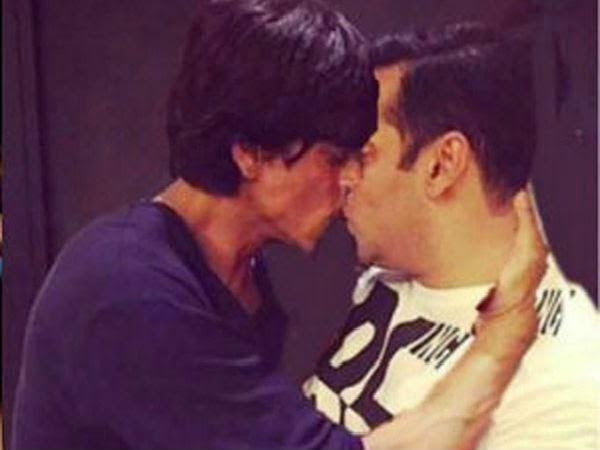 Gambar Edit Shah Rukh Khan Bercium Dengan Salman Khan Tersebar